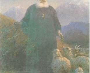 Католикос Хримян в окрестностях Эчмиадзина — Иван Айвазовский