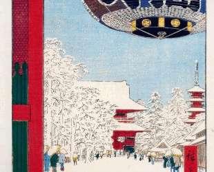 Kinryuzan Temple at Asakusa — Хиросиге