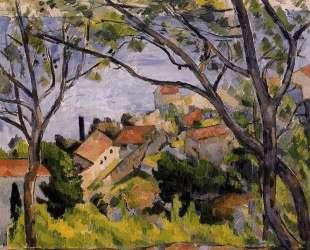 L'Estaque. View through the Trees — Поль Сезанн