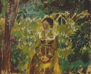 Женщина в саду — Виктор Борисов-Мусатов