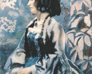 Женщина в голубом — Виктор Борисов-Мусатов