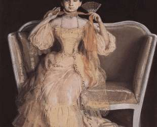 Дама в розовом — Константин Сомов