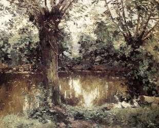 Landscape, Banks of the Yerres — Гюстав Кайботт
