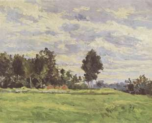 Landscape in the Ile de France — Поль Сезанн