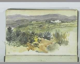 Пейзаж близ Танжера — Эжен Делакруа