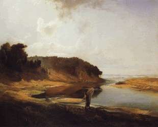 Landscape with a River and an Angler — Алексей Саврасов