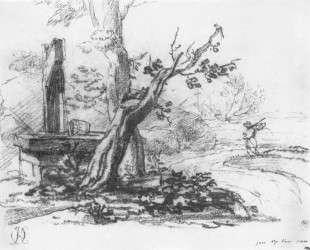 Пейзаж с колодцем — Орест Кипренский
