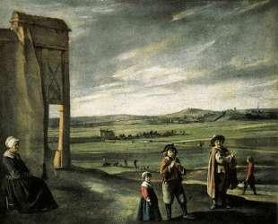 Landscape with an old woman — Братья Ленен