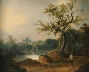 Landscape with Figures on a Path — Уильям Шайер