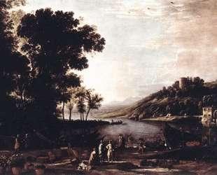Landscape with Merchants — Клод Лоррен