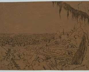 Landscape with overhanging fir — Геркулес Сегерс