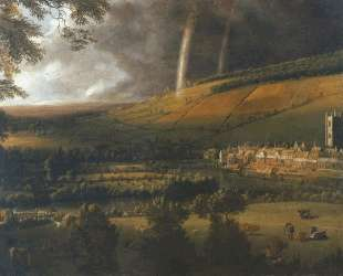 Landscape with Rainbow, Henley on Thames — Ян Сиберехтс