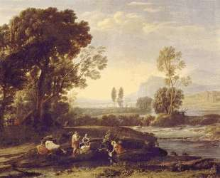Landscape with the Flight into Egypt — Клод Лоррен