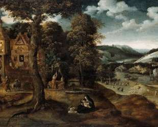 Landscape with The Flight into Egypt — Иоахим Патинир