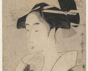 Large Head and Bust Portrait of Beauty — Китагава Утамаро