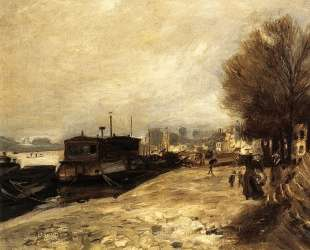 Laundry Boat by the Banks of the Seine, near Paris — Пьер Огюст Ренуар