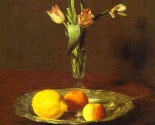 Lemons, Apples and Tulips — Анри Фантен-Латур