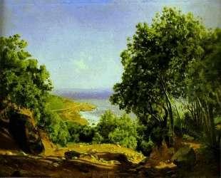Livorno. Road to the Sea at Antiniano near Livorno — Николай Ге