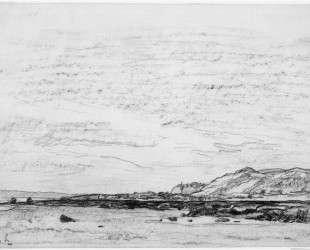 Отлив на побережье — Шарль-Франсуа Добиньи