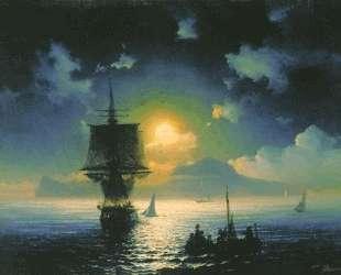 Лунная ночь на Капри — Иван Айвазовский
