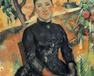 Madame Cezanne in the Greenhouse — Поль Сезанн