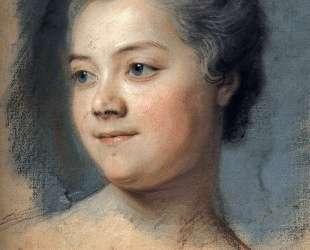 Mademoiselle Chacrylique sur Toileagner de La Grange — Морис Кантен де Латур