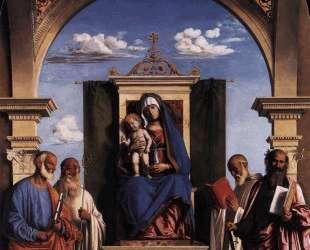 Madonna and Child Enthroned with Saints — Филиппо Липпи