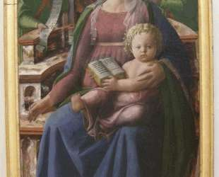 Madonna and Child Enthroned with Two Angels — Филиппо Липпи