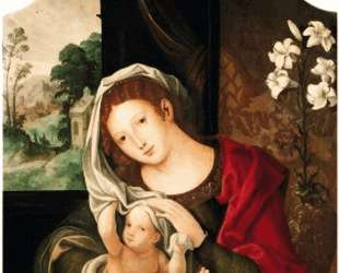 Madonna and Child playing with the veil — Мабюз