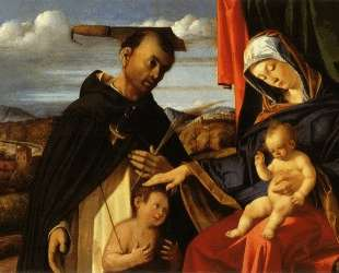 Madonna and Child with Saint Peter Martyr — Лоренцо Лотто