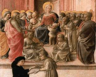 Madonna and Child with Saints, Angels and a Donor — Филиппо Липпи