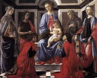 Мадонна с младенцем и шесть святых — Сандро Ботичелли