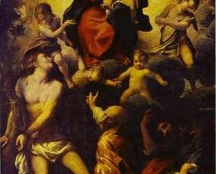 Мадонна с младенцем и Св. Себастьян — Корреджо