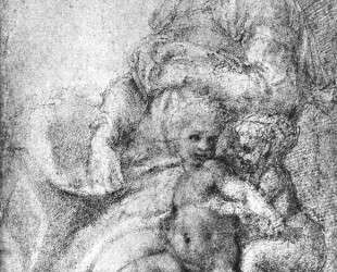 Madonna, Child and St. John the Baptist — Микеланджело