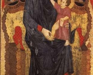 Мадонна на троне с младенцем и двумя ангелами — Чимабуэ
