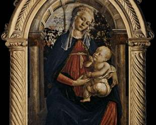 Мадонна в розовом саду — Сандро Ботичелли