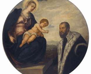 Madonna with Child and Donor Tintoretto — Тинторетто