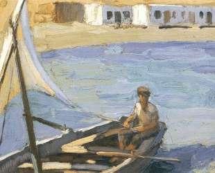 Boat with Sail (Panormos, Tinos) — Николаос Литрас