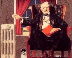 Man seated by a Radiator — Норман Роквелл