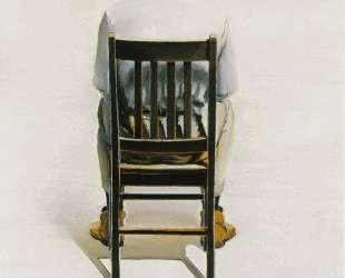 Man Sitting — Back View — Уэйн Тибо