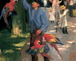 Man with parrots — Макс Либерман