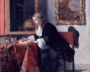 Man Writing a Letter — Габриель Метсю
