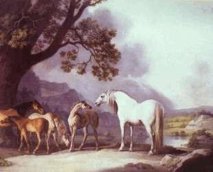 Mares and Foals in a Mountainous Landscape — Джордж Стаббс
