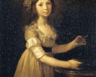 Marguerite-Marie Lagnier, ten years old — Пьер Поль Прюдон
