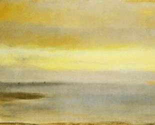 Морской пейзаж, закат — Эдгар Дега