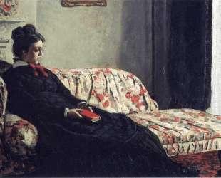 Размышление. Мадам Моне на диване — Клод Моне