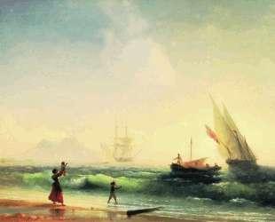 Ожидание рыбаков на берегу Неаполитанского залива — Иван Айвазовский