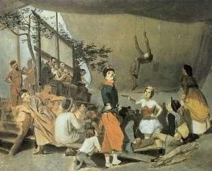 Парижское гулянье. Эскиз — Василий Перов