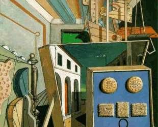 Метафизический интерьер с печеньем — Джорджо де Кирико