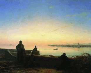 Мхитаристы на острове Св. Лазаря — Иван Айвазовский